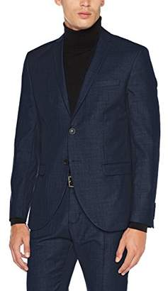 Selected Men's Shdone-mylobiga4 Dk Blue Blazer Noos Suit Jacket, Dark