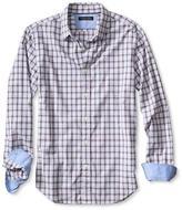 Banana Republic Tailored Slim-Fit Custom 078 Wash Orange Check Shirt
