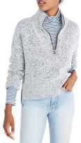 Madewell Women's Marled Half Zip Sweater