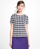 Brooks Brothers Jacquard Houndstooth Top