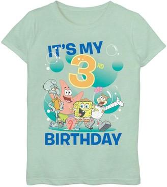 SpongeBob Squarepants Licensed Character Girls 7-16 Group 3rd Birthday Tee