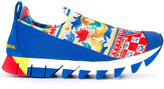 Dolce & Gabbana Mambo print slip-on sneakers - women - Cotton/Polyamide/Polyester/rubber - 35