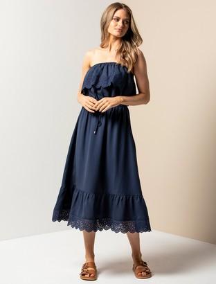 Forever New Caroline Lace Midi Dress - Navy - 10