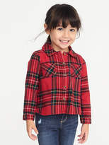 Old Navy Plaid Flannel Shirt for Toddler Girls