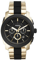 Fossil Stainless Steel Black Dial Chronograph Watch