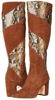 Sam Edelman Hai 2 (Toasted Coconut Lucca Suede Leather/Tropical Snake Print Leather) Women's Shoes