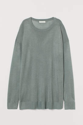 H&M Fine-knit Sweater - Turquoise