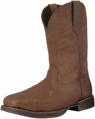 "Rocky Western Boots Mens Renegade 11"" Waterproof 13 W Distressed Brown RKW0225"