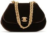 Chanel Pre Owned 1994 velvet chain shoulder bag