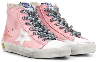 Golden Goose Kids Leopard Lace-Up Sneakers
