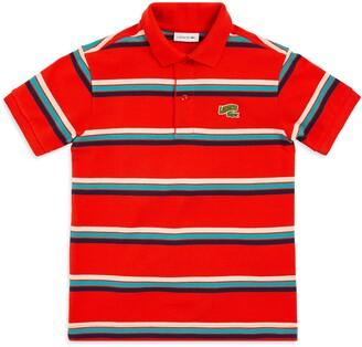 Lacoste Stripe Summer Badge Polo