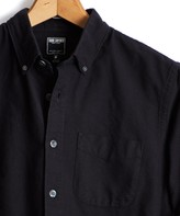 Todd Snyder Japanese Selvedge Oxford Button Down Shirt in Black