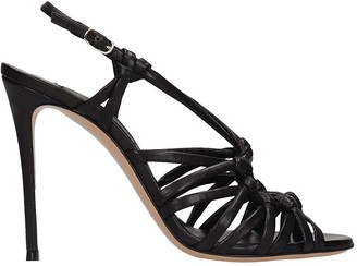 Casadei Sandals In Black Leather