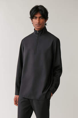 Cos LONG-SLEEVED HALF-ZIP SHIRT