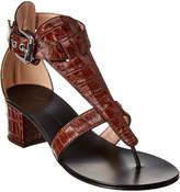 Giuseppe Zanotti Madie Snake-Embossed Leather Sandal