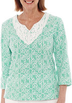Alfred Dunner Acapulco 3/4-Sleeve Print Tunic Top