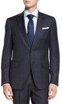 Isaia Tonal-Plaid Two-Piece Suit, Navy
