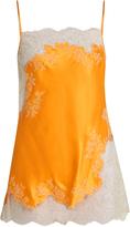 Carine Gilson Lace-trimmed silk-satin slip