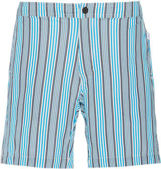 Onia Calder Striped Swim Shorts