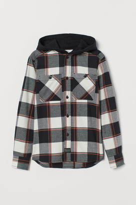H&M Hooded flannel shirt