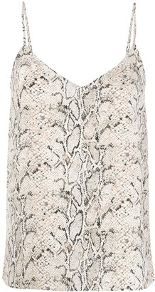 Equipment V-neck snakeskin-print vest top