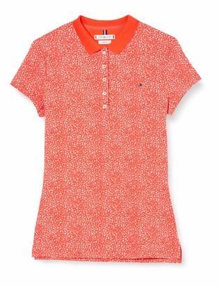 Tommy Hilfiger Women's Chiara Print PQ Polo SS Shirt