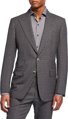 Tom Ford Men's Shelton Micro-Check Wool-Blend Two-Piece Suit