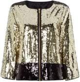 Biba Colour block sequin jacket