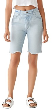 DL1961 Clara Cotton Denim Bermuda Shorts in Kingsland