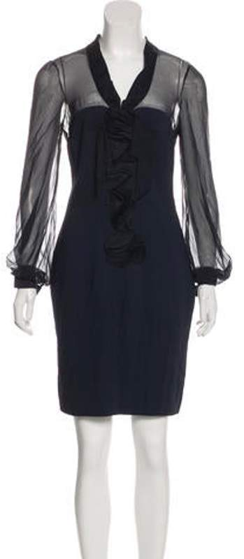Valentino Knee-Length Sheath Dress Navy Knee-Length Sheath Dress