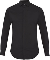 Giorgio Armani Single-cuff cotton-poplin shirt