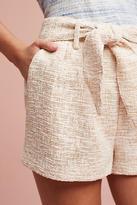 Line & Dot Tied Tweed Shorts
