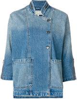 Current/Elliott cropped sleeve jacket - women - Cotton - 0