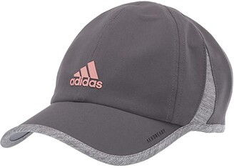 adidas Superlite Relaxed Adjustable Performance Cap (Grey Six/Rose Gold/Heather Grey) Baseball Caps