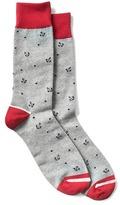 Gap Anchor print crew socks