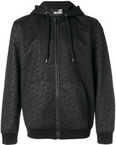Love Moschino branded hooded zip-up jacket
