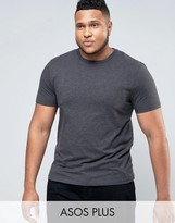 Asos PLUS Muscle T-Shirt In Charcoal Marl