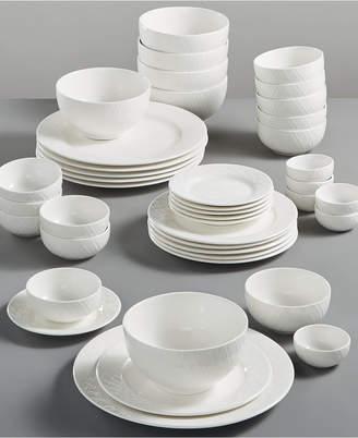 Gibson White Elements Lexington 42-Pc. Dinnerware Set, Service for 6