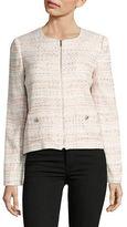 Karl Lagerfeld Paris Multi-Tweed Zip Jacket
