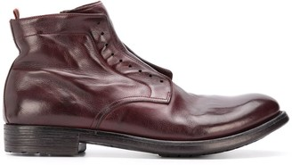 Officine Creative Zip-Up Leather Boots