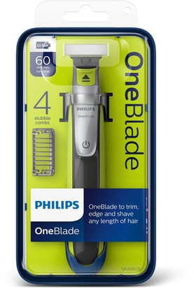 Philips OneBlade Hybrid Trimmer & Shaver with 4 Stubble Combs QP2530/25