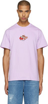 Noah Purple Embroidered Paisley Logo T-shirt