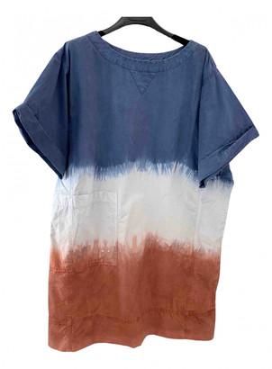 Douuod Blue Cotton Dress for Women
