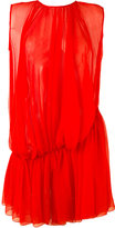 Gianluca Capannolo draped sheer dress - women - Silk - 42