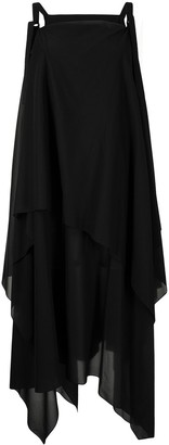 Issey Miyake Draped Asymmetric Dress