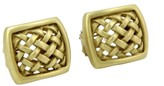 Kieselstein-Cord Kieselstein Cord 18K Yellow Gold Woven Open Design Stud Earrings