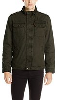 Levi's Men's Washed Cotton Two Pocket Military Jacket, Olive