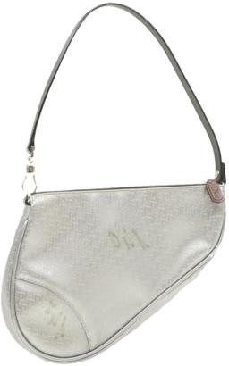 Christian Dior Silver Cloth Travel bags