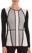 Nic+Zoe Long Sleeve Crewneck Hourglass Sweater