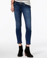 Hudson Collin Factor Wash Cotton Cropped Skinny Jeans